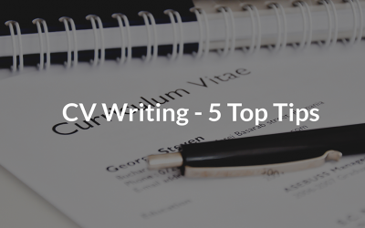 CV Writing- 5 Top Tips