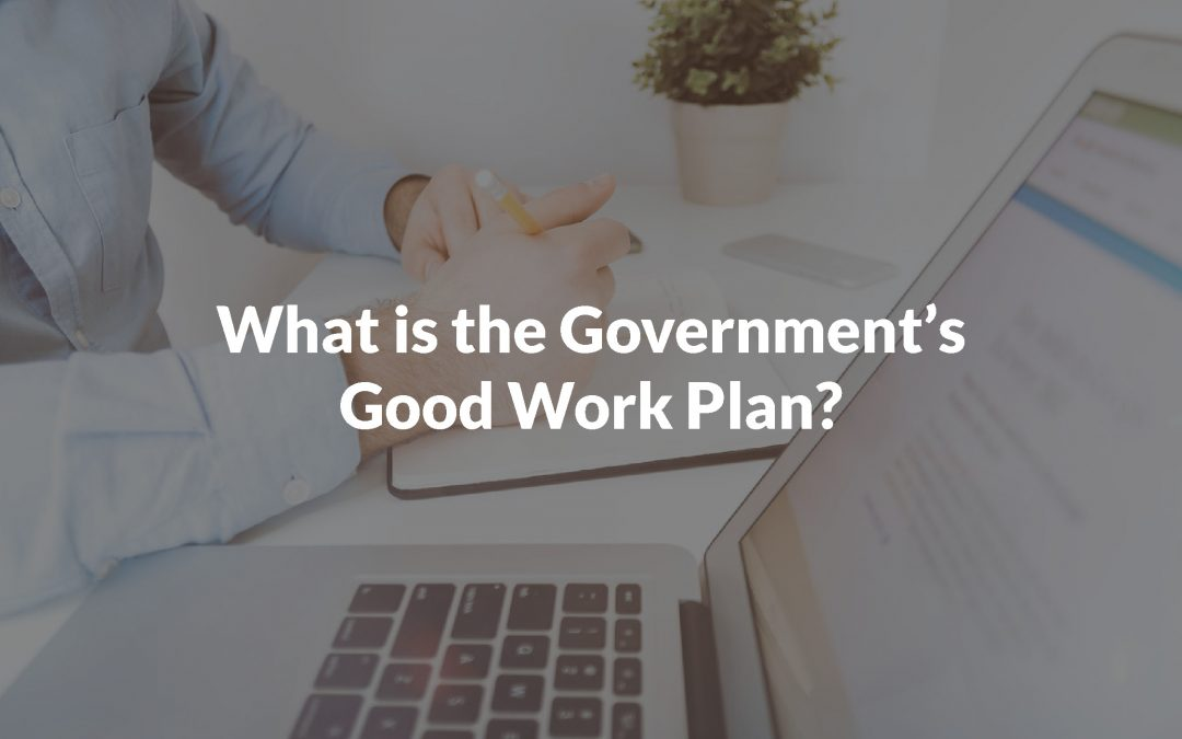 What is the Government's Good Work Plan?